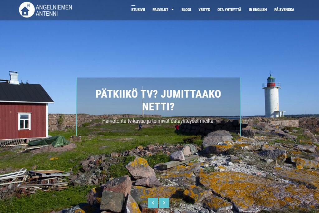 Digipuun rakentama verkkosivusto Angelniemen Antenni
